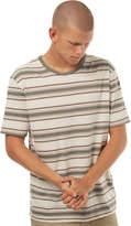 rhythm Vintage Stripe Mens T Shirt Green