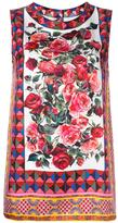 Dolce & Gabbana Mambo print tank top - women - Silk/Cotton - 40
