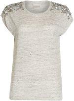 InWear Short sleeve embelished shoulder t-shirt