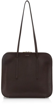 The Row Siamese Leather Shoulder Bag