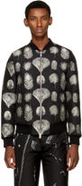 Alexander McQueen Black Peacock Feather Bomber Jacket
