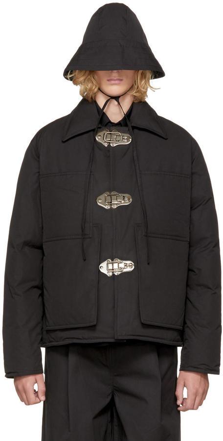 Craig Green Black Down Workwear Jacket