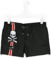 Philipp Plein logo print swim shorts