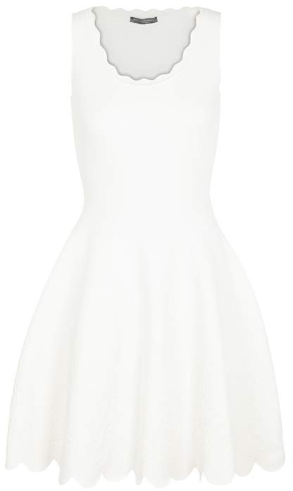 Alexander McQueen Rose-jacquard Stretch-knit Dress