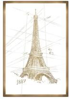 Oliver Gal Eiffel Tower Canvas Wall Art