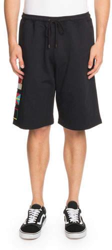 Marcelo Burlon County of Milan Flags-Applique Cotton Shorts