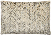 Dransfield and Ross Cosmo Velvet Pillow-Grey, Beige