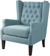 Asstd National Brand Riddle Button-Tufted Wing Chair