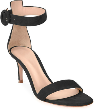 Gianvito Rossi Portofino 70mm Ankle-Wrap Sandals