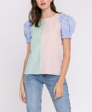 ENGLISH FACTORY Stripe Multi Color Top