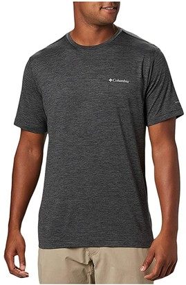 Columbia Tech Trail Crew Neck (Shark) Men's Clothing