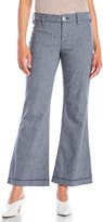 NYDJ Petite Claire Linen Flared Trousers
