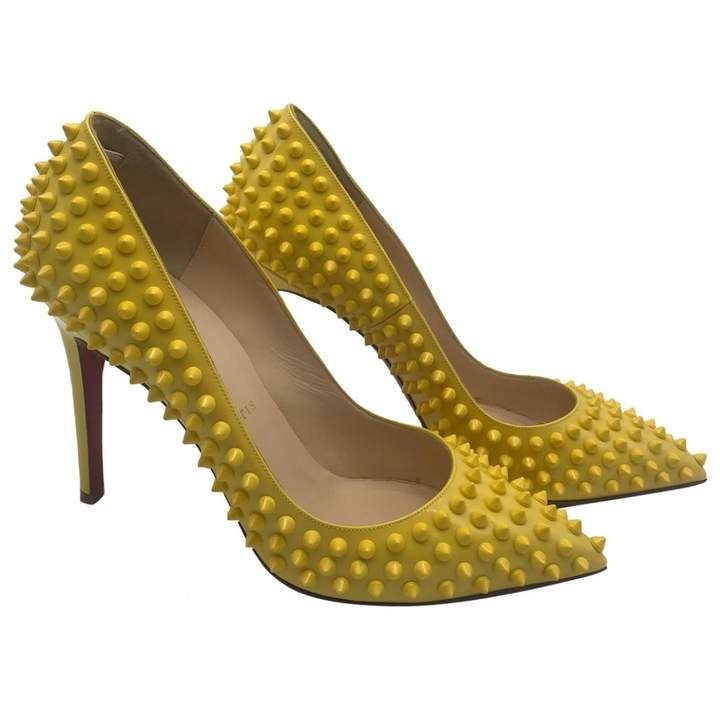 the best attitude 18c70 8c772 Pigalle Yellow Patent leather Heels