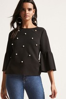 Forever 21 12x12 Embellished Boxy Top