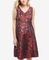 Motherhood Maternity Jacquard A-Line Dress