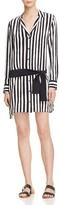 Equipment Kate Moss For Rosland Stripe Silk Shirt Dress