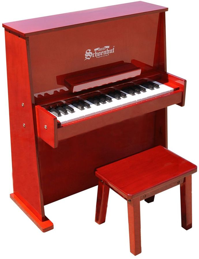 Schoenhut 37-Key Durable Spinet Red Toy Piano