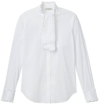 Lafayette 148 New York Rowland Stretch Cotton Shirt