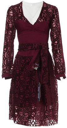 Jean Paul Gaultier Burgundy Viscose Dresses