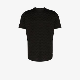 Prévu caspian zigzag knitted T-shirt