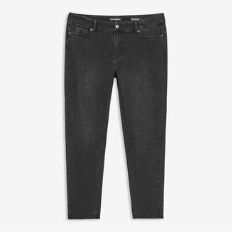 Joe Fresh Women+ Classic Slim-Fit Jeans, Black (Size 16)