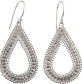 Flores Small Silver Drop Earrings