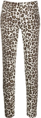 P.A.R.O.S.H. Leopard-Print Skinny Jeans