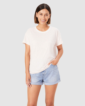 French Connection Women's T-Shirts & Singlets - Boxy Stripe T Shirt - Size One Size, S at The Iconic