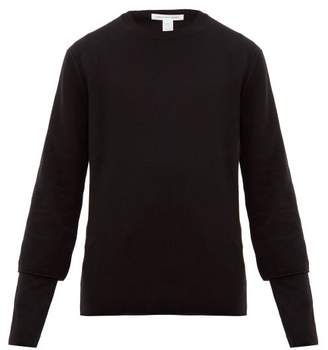 Comme des Garcons Double Sleeve Wool Sweater - Mens - Black