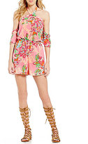 GB Floral Print Cold Shoulder Romper