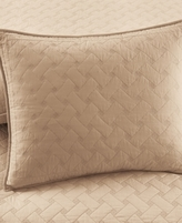 Martha Stewart Collection Collection Cotton Basket Stitch Tan Standard Sham