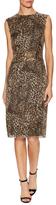 Pink Tartan Leopard Print Sheath Dress