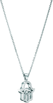 Chopard 18k White Gold Diamond Hamsa Pendant Necklace