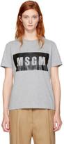 MSGM Grey Box Logo T-shirt