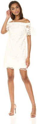Trina Turk Trina Women's Merengue Off The Shoulder Lace Dress