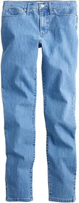 J.Crew High Waist Pinstripe Toothpick Jeans
