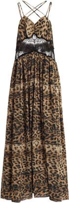 Victoria Beckham Fluid Leopard-Print Maxi Dress