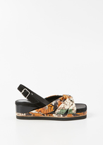 Dries Van Noten multi knot sandal wedge