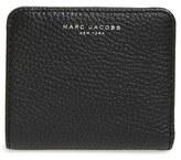 Marc Jacobs Women's 'Gotham' Pebbled Leather Wallet - Black