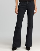Wide-Leg Denim Trousers in Obsidian Wash
