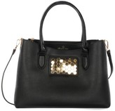 Celine Dion Symphony Faux Leather Satchel - Black