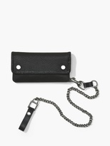 John Varvatos Pebbled Leather Biker Wallet