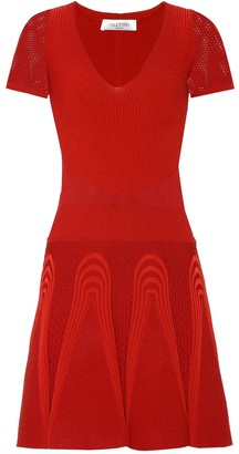 Valentino ribbed stretch-knit minidress