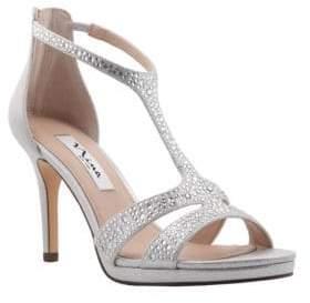 Nina Brietta Leather T-Strap Sandals