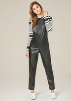Bebe Faux Leather Jumpsuit