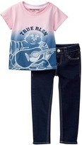 True Religion Buddha Tee & Jean Set (Toddler Girls)