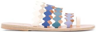Ancient Greek Sandals x Le Sirenuse Nikionda scalloped slides