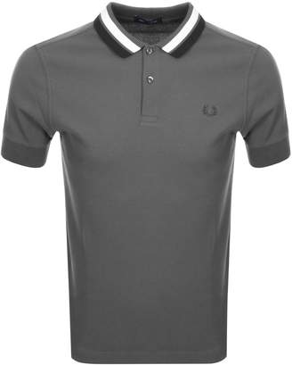 Fred Perry Bold Tipped Polo T Shirt Grey