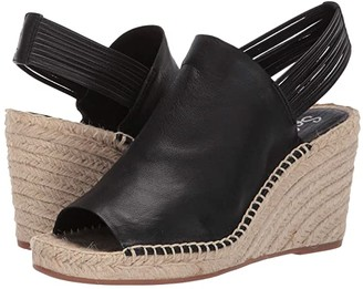 Splendid Simon (Black Soft Waxy Leather) Women's Wedge Shoes