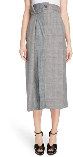 Alexander McQueen Prince of Wales Check Midi Skirt